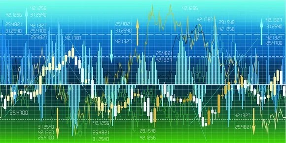Graphs of stock prices