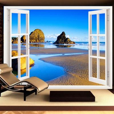 Seamless landscape murals living room sofa seamless wallpaper bedroom TV wallpaper extension ...