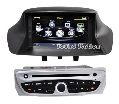 Car Accessories Auto Spare Parts For Renault Megane 3 DVD GPS Touch Screen Monitor S100 Media ...