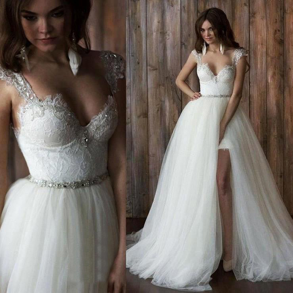 aliexpress wedding dresses Aliexpress com Buy New Romantic Court Train Sheer Illusion Neck Back Lace Mermaid Wedding Dress vestido de noiva Applique Fashion Bride Dress from