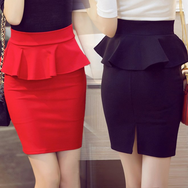 A typical A-line skirt or Pencil skirt as many office girls would wear