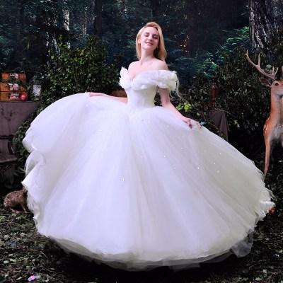Hot Sale 2016 New Movie Deluxe Cinderella Wedding Dress ...