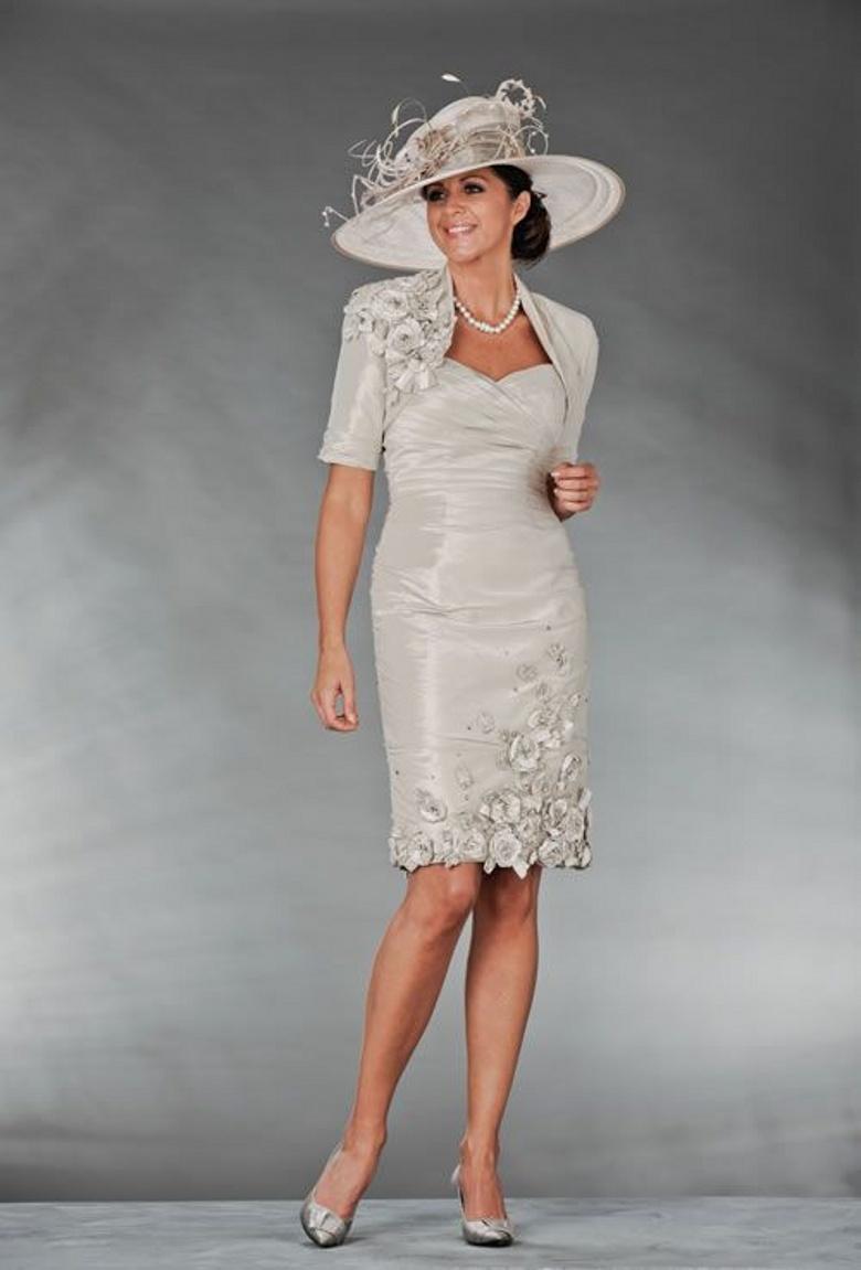 dillards wedding dress Tadashi Shoji Petite 3 4 Sleeve Embellished Lace Gown