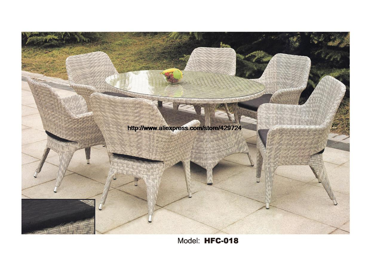 Concise font b Wicker b font Leisure Glass Table Chairs font b Set b font 7
