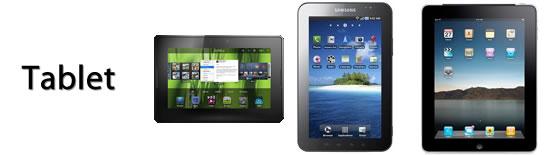 BlackBerry PlayBook, Samsung Galaxy Tab, Apple iPad