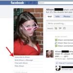 Facebook Suscribirse a amigos