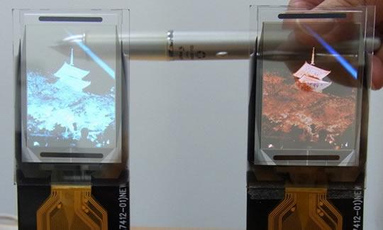 TDK pantallas con transparencia