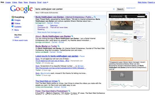 Vista Previa Busquedas Google
