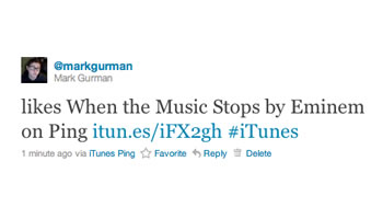 iTunes url Short en Ping
