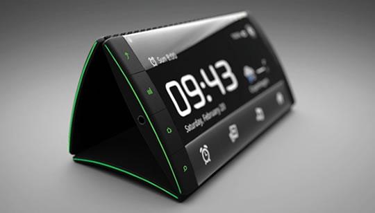 Concepto teléfono Celular Flip