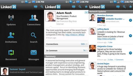 LinkedIn App para Android