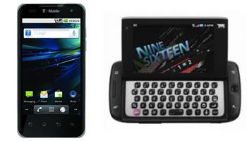 T-Mobile Sidekick 4G y T-Mobile G2x