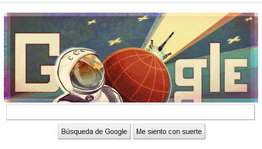 Yuri Gagarin - Doodle de Google - Primer humano en el espacio