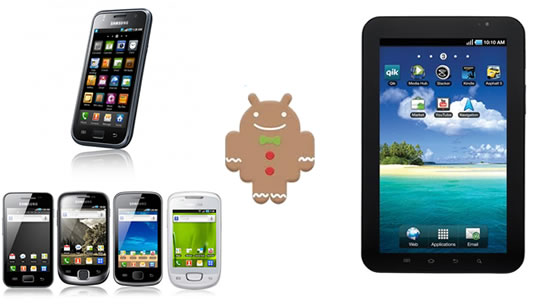 Samsung Galaxy S, Galaxy Series y Galaxy Tab reciben Android 2.3 Gingerbread