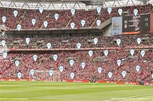 Wembley vista de 360 grados en 20 gigapixeles
