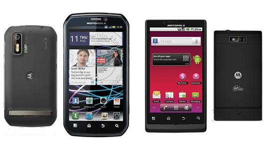 Motorola Photon 4G y Motorola Triumph