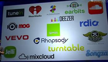 Spotyfy, Rdio, Rhapsody en Facebook - F8