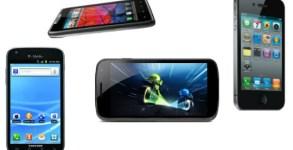 Galaxy Nexus Droid RAZR Galaxy S II iPhone 4S