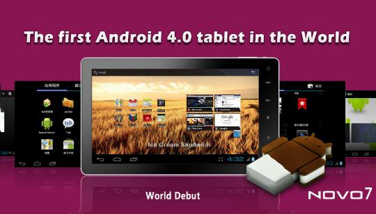 NOVO 7 Primer Tablet con Android Ice Cream Sandwich