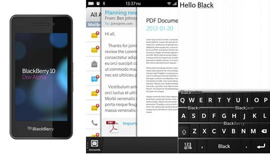 BlackBerry 10 Características