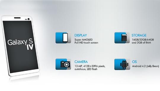 Características Galaxy S4