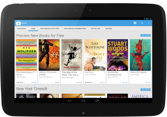 Google Play 4 Tablet