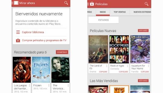 Google Play Movies Colombia Venezuela