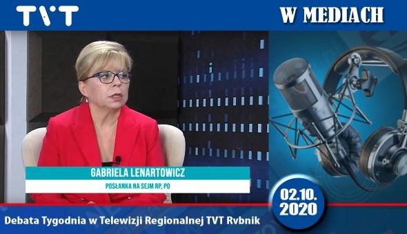 Czołówka tvt Rybnik debata tygodnia2.10.2020