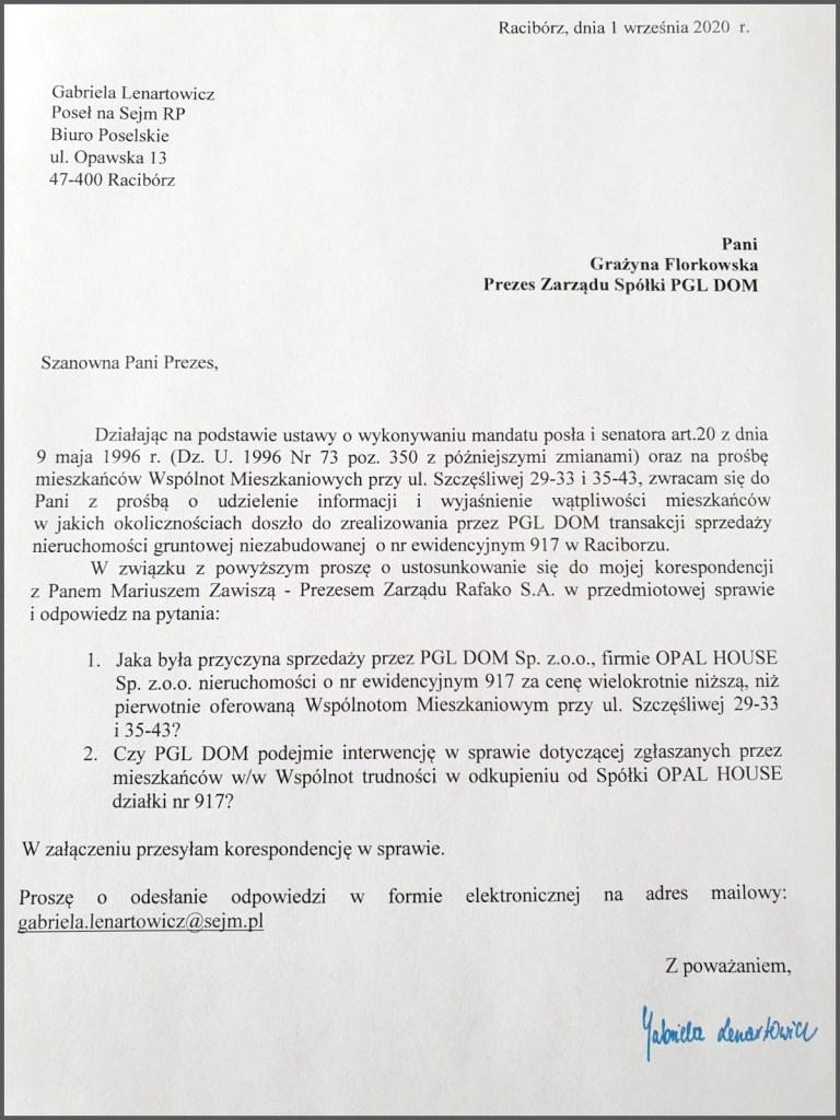 PGL DOM - zapytanie poselskie