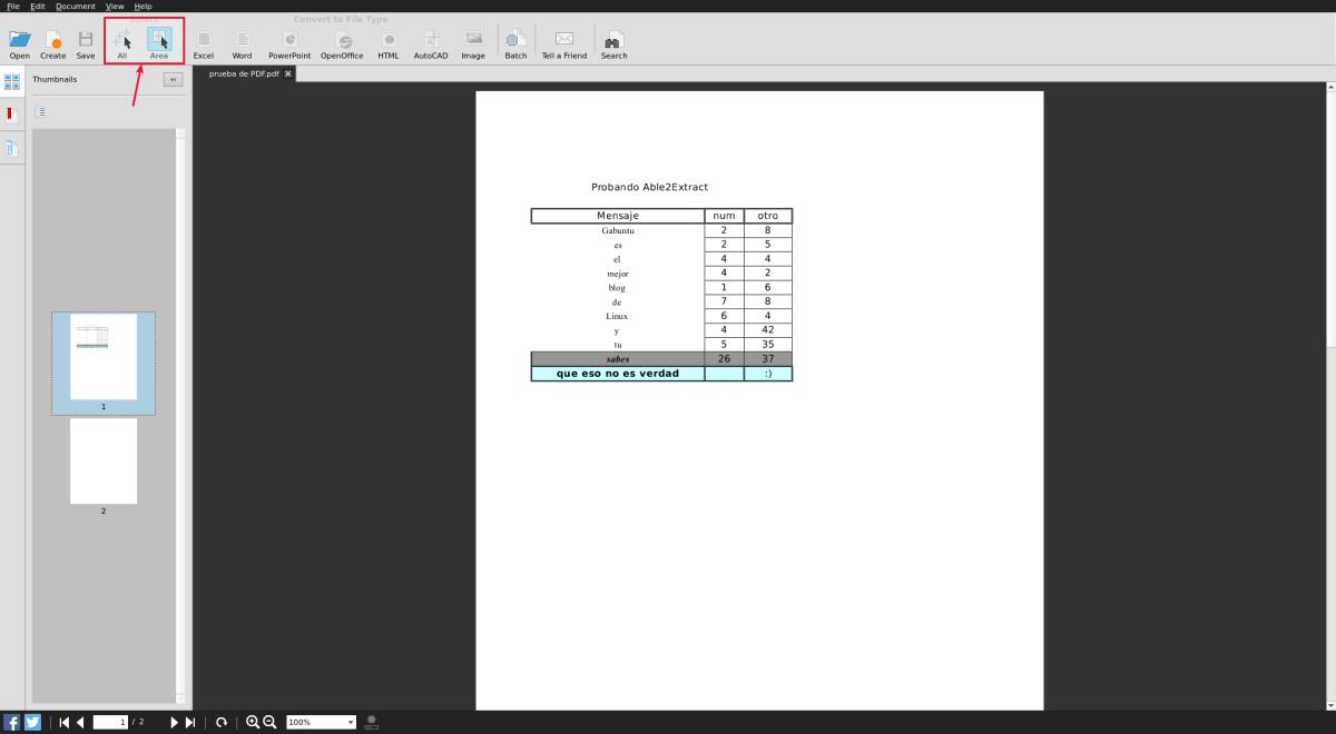 Convierte un PDF a Excel, Word o PowerPoint