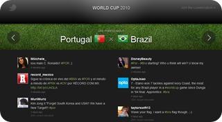 Aplicacion de Twitter para el Mundial