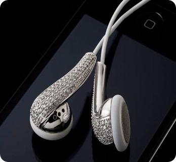 Amosu_Apple_Swarovski_Diamond_Crystal_Earphones_Luxurious_Silver_Duo_Dandygadget_Headphones_Gadget