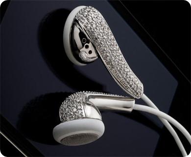 Amosu_Apple_Swarovski_Diamond_Crystal_Earphones_Luxurious_