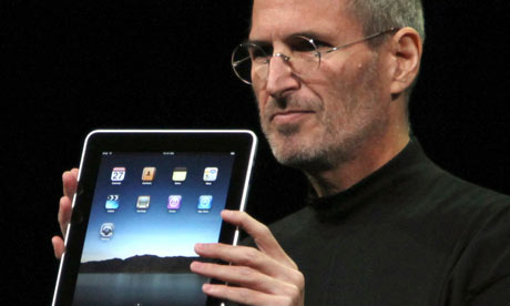 Steve Jobs unveils the iPad