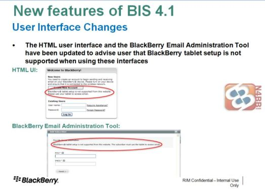 New and Improved UI in BlackBerry Internet Service 4.1