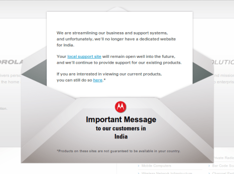 Motorola Mobility shuts down in India & Europe