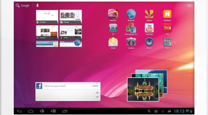 Videocon VT10 Tablet Pictures - Front View