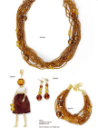 LE MARIE Torsade Necklace - Amber Color