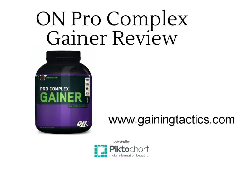Optimum Nutrition Pro Complex Gainer Review and Results