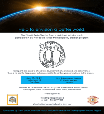 Help to Envision a Better World. Poetry Workshop.