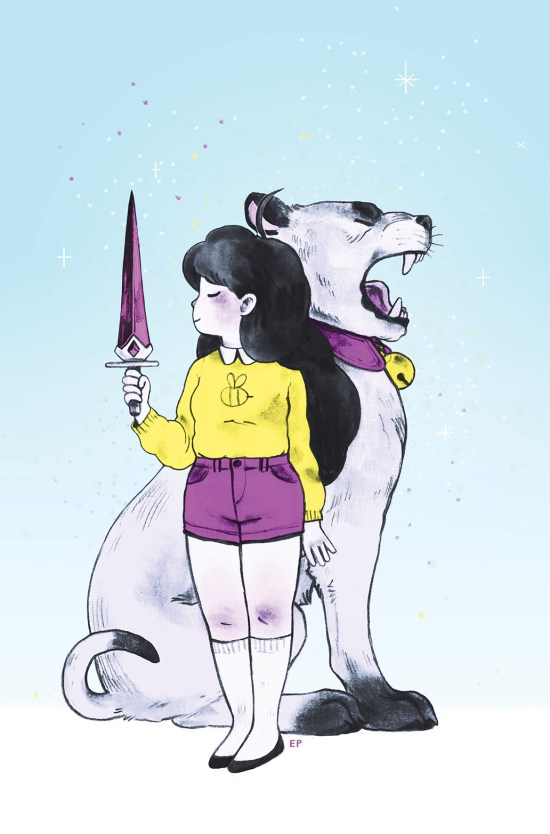 BEE AND PUPPYCAT #5 Cover C by Emily Partridge