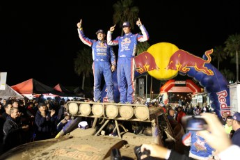 FOX 2011 Baja1000 70 finish FOX and McMillin Racing Capture Overall Four Wheel Vehicle and Trophy Truck Victory at 2011 Tecate SCORE Baja 1000