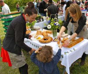 Guests at the 2012 Joy of Feeding enjoy some traditional Swedish cuisine.