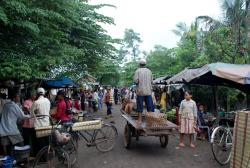 A rural market outside Kampong Cham
