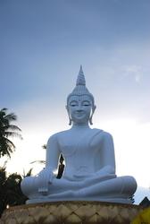 A white buddha - quite rare to see