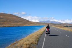 Friedel cycling near Twizel, New Zealand