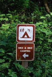 A hiker biker site in a state park