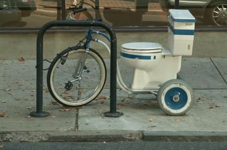 Toilet Bike  by Hugger Industriesr