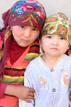 Kids on the Pamir Highway