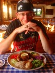 A real feast at the Gasthof Bavarian restaurant